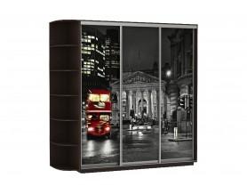 Базис Ночной Лондон 3-х створчатый шкаф-купе 1800 мм | 2000 мм