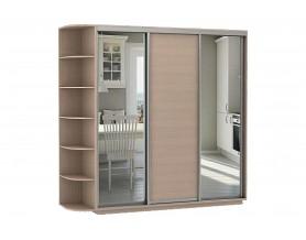 Базис 3-х дверный шкаф-купе 2 зеркала 1800 мм | 2000 мм