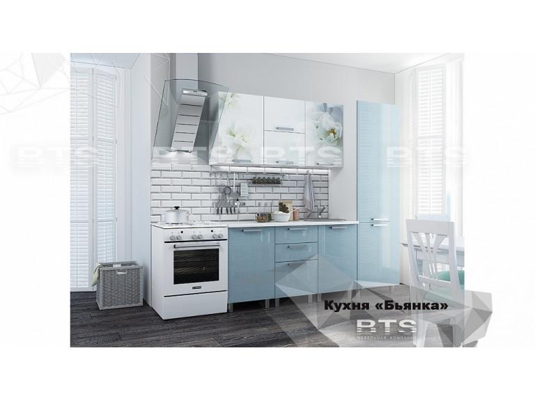 """Кухня """"Бьянка 2,1 голубые блестки"""""""